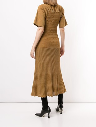 Proenza Schouler Smocked Knitted Dress