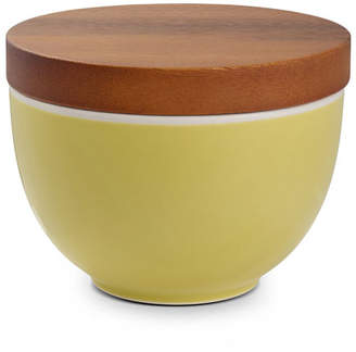 Nambe Prism Candle Bowl with Lid Citron