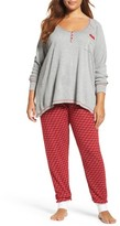 PJ Salvage Plus Size Women's Thermal Pajamas