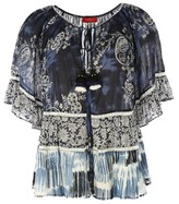 Rene Derhy Printed Short-Sleeved Blouse