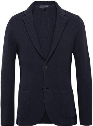 Lardini Slim-Fit Ribbed Wool Cardigan - Men - Blue