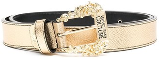 Versace Jeans Couture Logo Metallic-Effect Belt