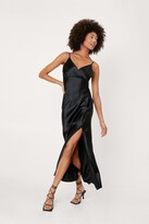 Thumbnail for your product : Nasty Gal Womens Wrap Front Button Down Midi Slip Dress