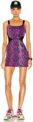 Dundas for FWRD Dress in Purple & Black Python Print | FWRD