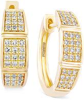 Effy D'Oro By Diamond Hoop Earrings (1/4 ct. t.w.) in 14k Gold
