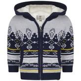 Timberland TimberlandBaby Boys Grey Cotton Knit Jacquard Cardigan