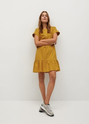 MANGO Cotton oversized dress