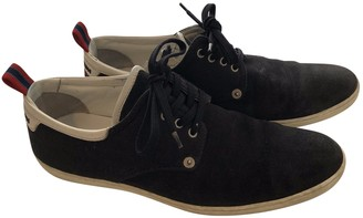 Louis Vuitton Navy Suede Trainers