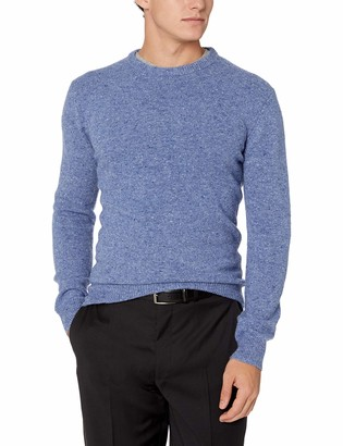 French Connection Men's Long Sleeve Wool Blend Crewneck Sweater