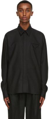 Bottega Veneta Grey Wool Flannel Shirt