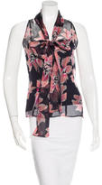 Christian Dior Printed Silk Top