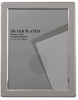 Evergreen Tarnish Resistant Silver Plated Narrow Edge Photo/Picture Frame, 6x8 inch