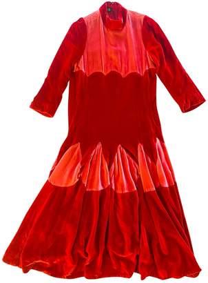 Meadham Kirchhoff Red Velvet Dresses