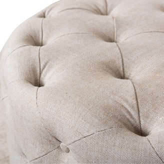Carter Sinclair Tufted Round Ottoman