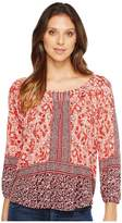 Lucky Brand Placed Peasant Top