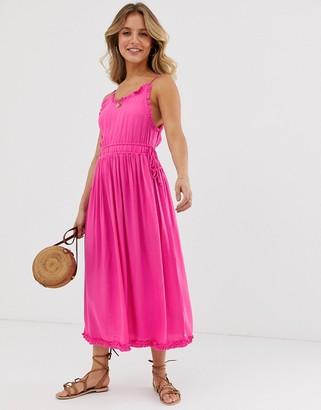 Maison Scotch summer midi dress-Pink