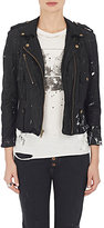 NSF Women's Washed Leather Moto Jacket