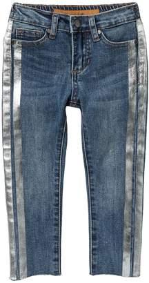 Joe's Jeans Metallic Stripe Skinny Jeans (Toddler & Little Girls)