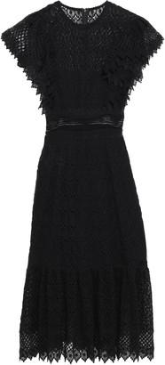 Philosophy di Lorenzo Serafini Lattice-trimmed Ruffled Cotton-blend Lace Dress