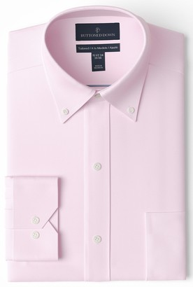 Buttoned Down Amazon Brand Men's Tailored-Fit Button Collar Pinpoint Non-Iron Dress Shirt