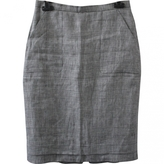 Max Mara Grey Linen Skirt