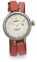 Shinola Birdy Two-Tone Stainless Steel & Leather Double-Wrap Watch