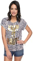Juicy Couture Keep It Haute Monaco Python Tee