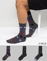 Pringle Dot Socks In Charcoal