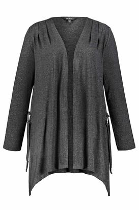 Ulla Popken Women's Damen Groe Groen Jersey-Jacke mit Zipfeln Cardigan Sweater