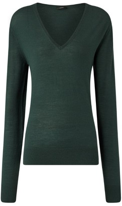 Joseph Merino Wool V-Neck Sweater