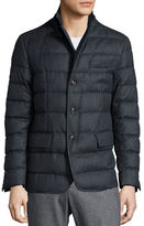 Moncler Rodin Quilted Button-Down Jacket