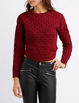 Charlotte Russe Cable Knit Cropped Sweater