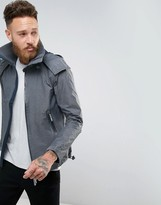 Superdry Hooded Jacket With High Neck