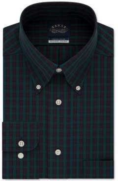 Eagle Men's Classic/Regular-Fit Non-Iron Flex Collar Check Dress Shirt