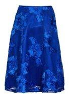 Dorothy Perkins Womens *Quiz Blue Mesh Applique Flare Midi Skirt- Blue