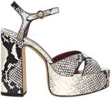 Marc Jacobs 120mm Debbie Printed Leather Sandals