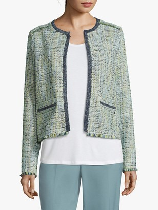 Betty & Co. Unlined Woven Jacket, Cream/Green