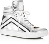 Belstaff Dillon Metallic High Top Sneakers