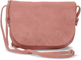 Toms Dusty Rose Suede Embroidered Venice Crossbody Bag