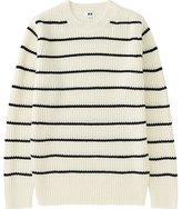 Uniqlo Men Middle Gauge Striped Crew Neck Sweater