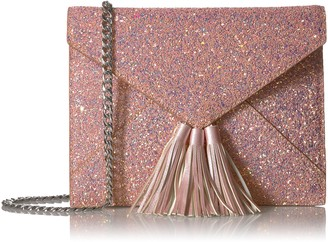 The Fix Amazon Brand Izzi Glitter Envelope Clutch with Chain Crossbody Strap