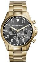 Michael Kors MK8361 Grey Dial Gold Tone Stainless Steel Bracelet Mens Watch
