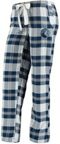 Unbranded Women's Concepts Sport Navy/Gray Minnesota Timberwolves Headway Flannel Pants