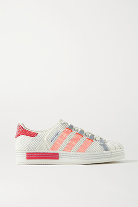 adidas Craig Green Superstar Embroidered Suede Sneakers - Cream