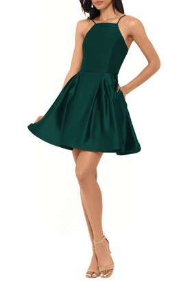 Betsy & Adam Satin Party Dress