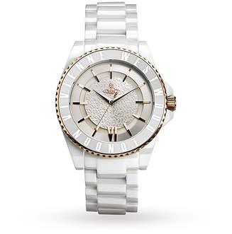 Vivienne Westwood U White Ceramic Glitz Watch