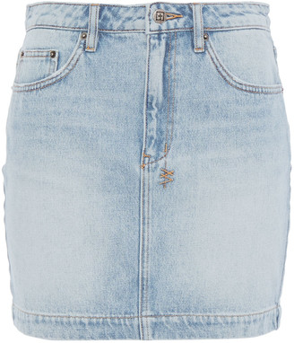 Ksubi Faded Denim Mini Skirt