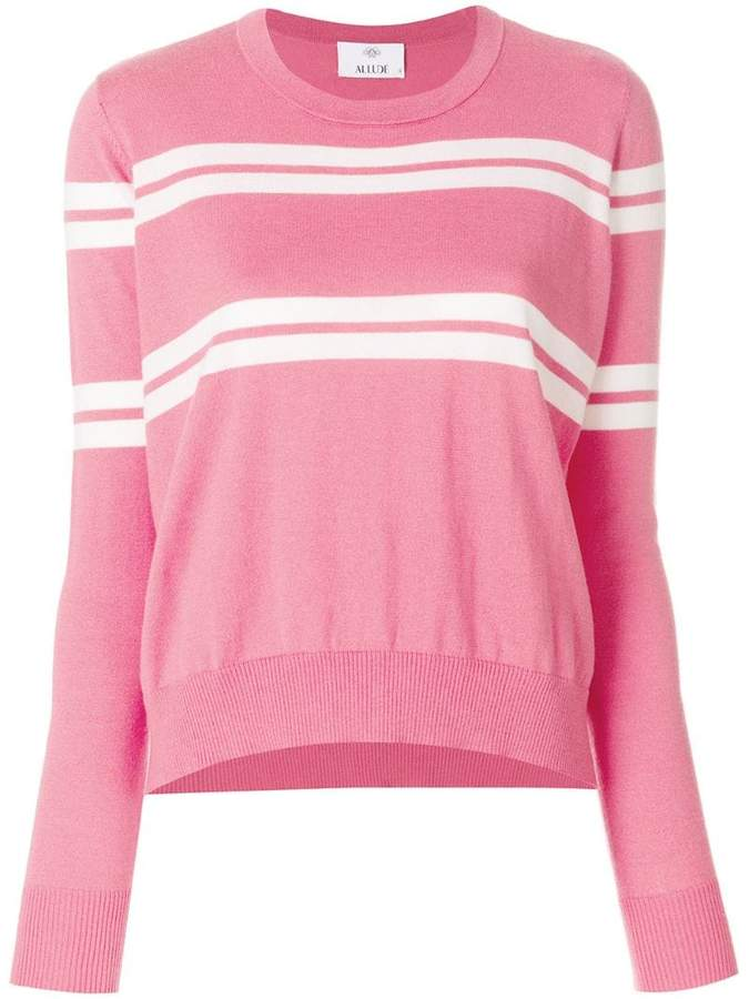 Allude stripe detail sweater