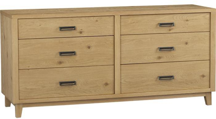Crate & Barrel Varick 6-Drawer Dresser