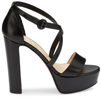 Christian Louboutin Loubi Bee Platform Leather Sandals